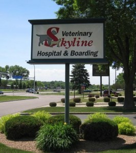 Skyline Sign in Summer